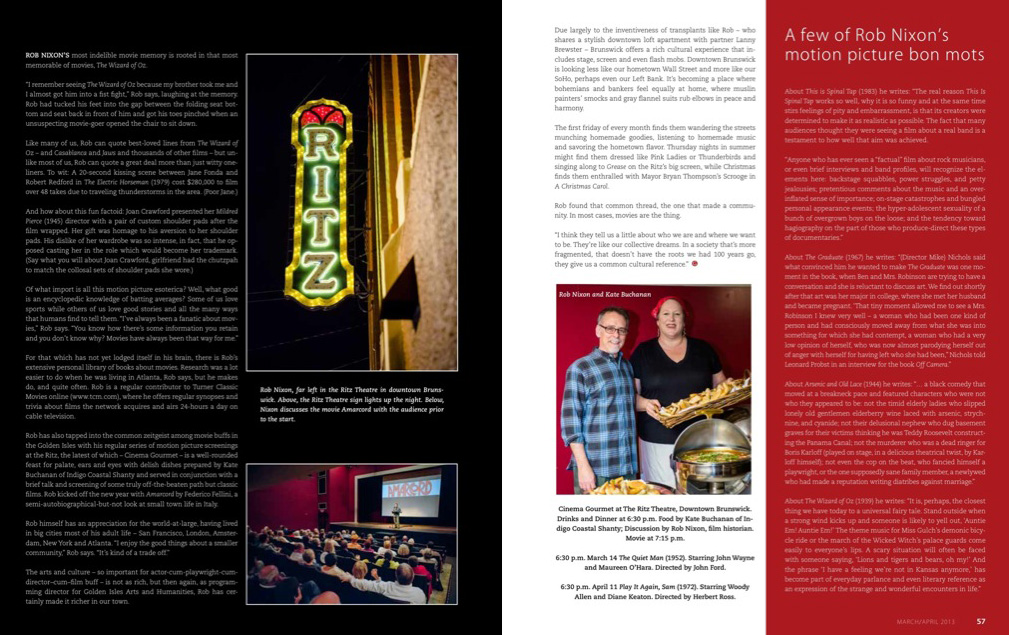 Golden Isles Magazine Ritz Cinema Gourmet