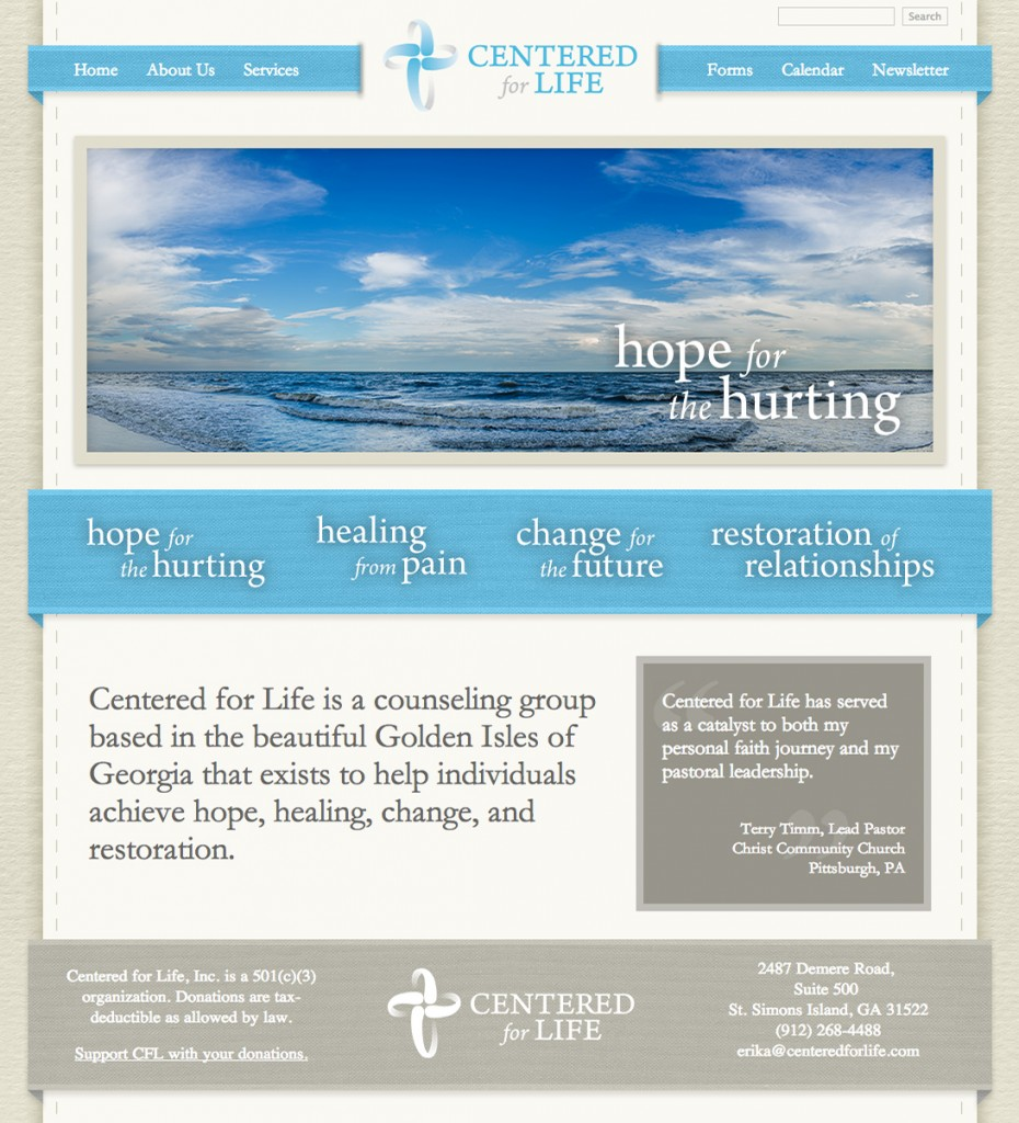 Centered for Life Website