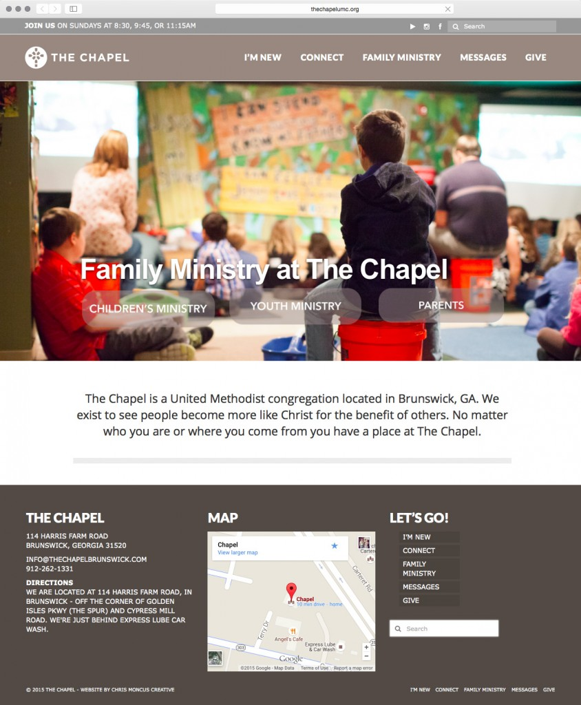 Chapel Website Screenshot