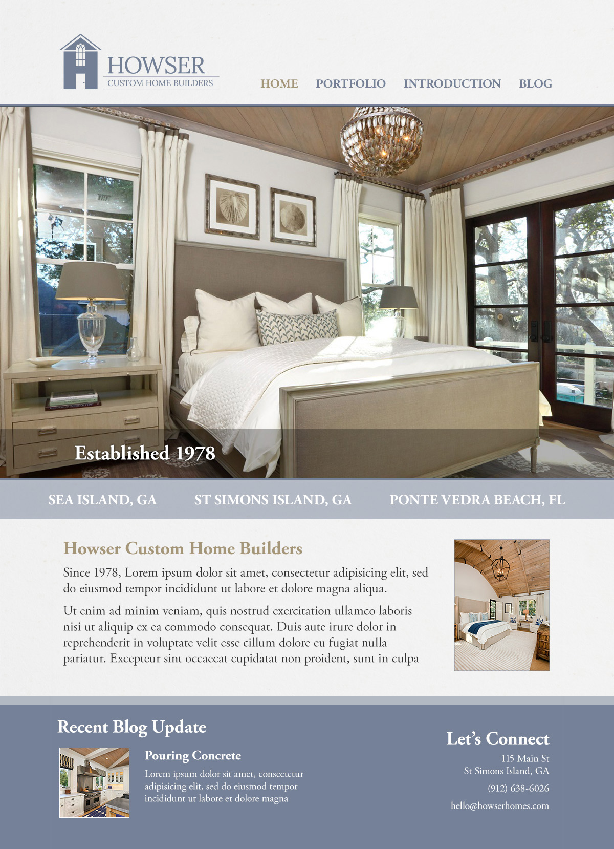Chris Moncus Creative Website Design: Howser Custom Homes - Chris ...